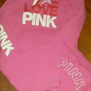 PINK Victoria's Secret hoodie and pants set